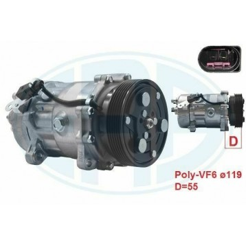 Compressore Clima ERA 670030 Per A3 TT Galaxy Cordoba Ibiza Leon Golf Polo Caddy